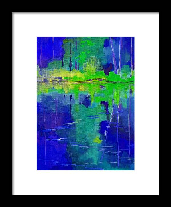 Abstract Framed Print featuring the painting After Midnight by Nancy Merkle
