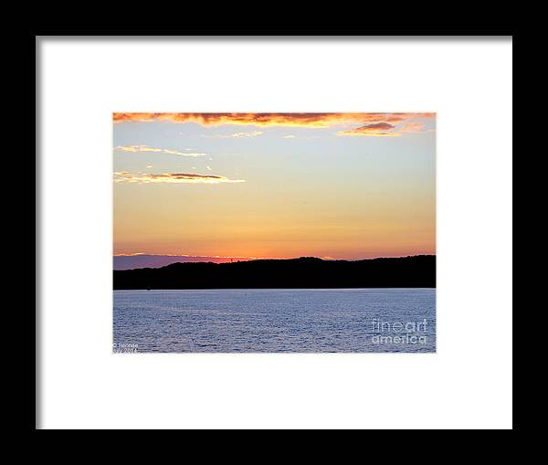 Landscape Framed Print featuring the photograph After Sundown by Rennae Christman