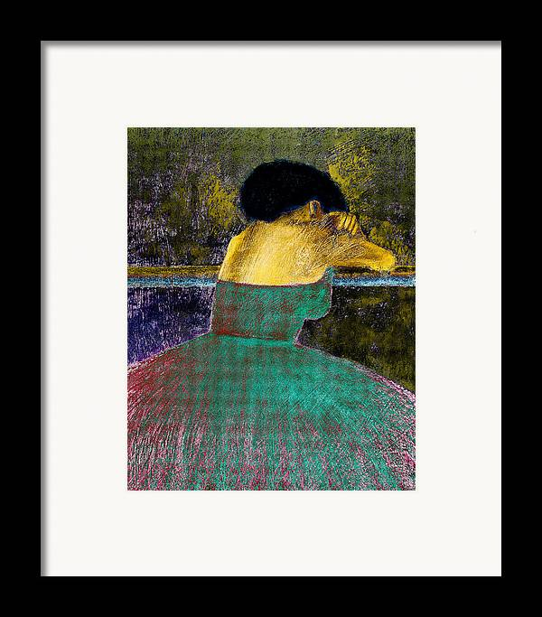 Impressionistic Framed Print featuring the digital art After The Dance by David Patterson