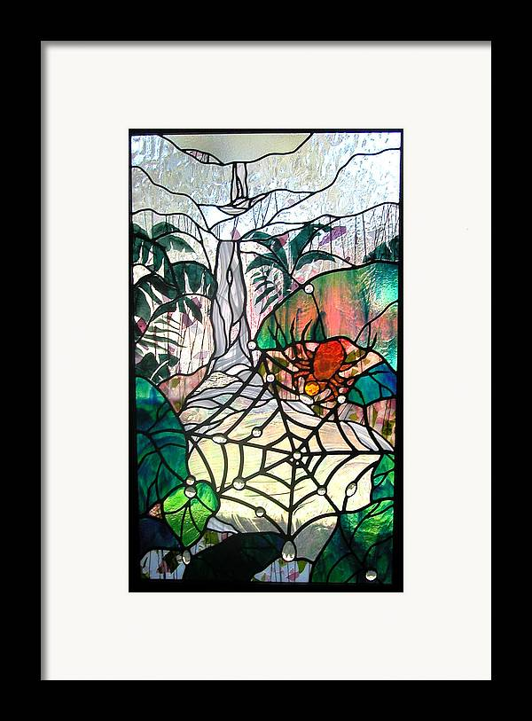 Glass Framed Print featuring the glass art After The Rain by Christine Alexander