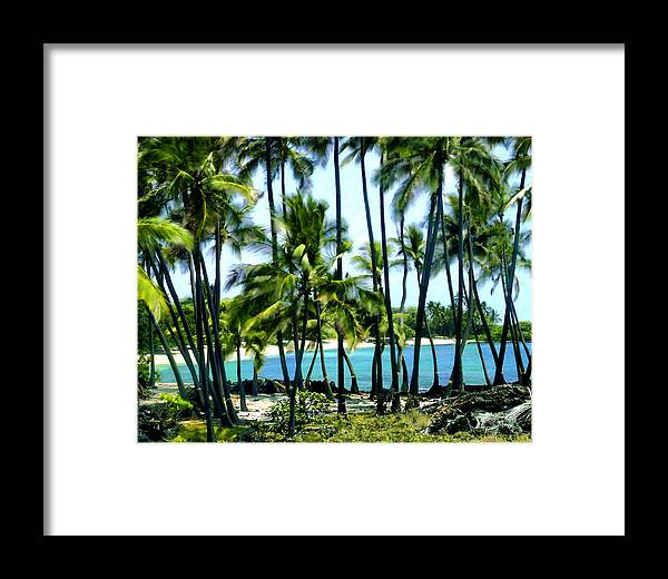 Hawaii Framed Print featuring the photograph Afternoon At Kakaha Kai by Kurt Van Wagner