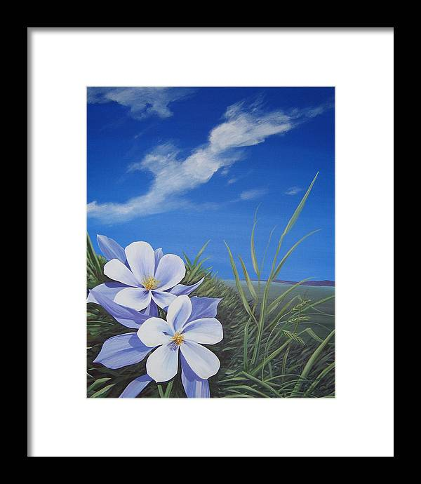 Landscape Framed Print featuring the painting Afternoon High by Hunter Jay