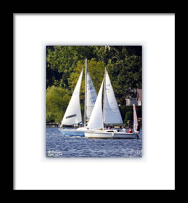 Sail Boats Framed Print featuring the photograph Afternoon Sailing by Rennae Christman