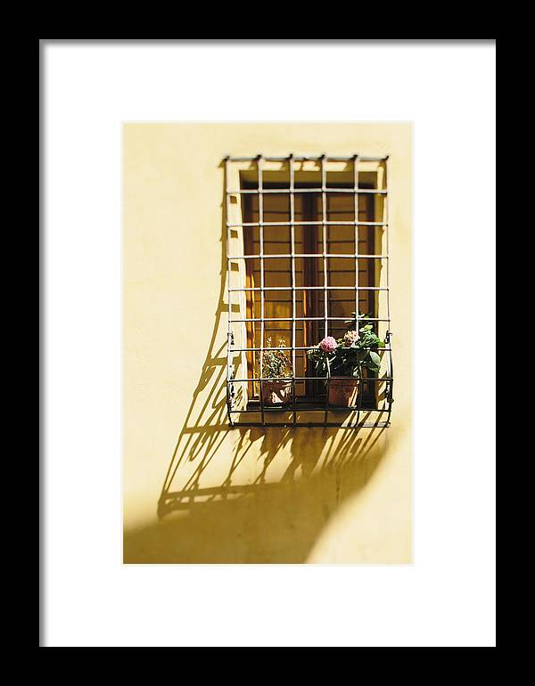 Fine Art Print Framed Print featuring the photograph Afternoon Shadow In Montepulciano by Clint Brewer