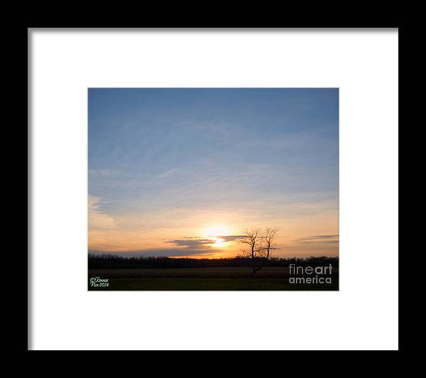 Landscape Framed Print featuring the photograph Afternoon Sun by Rennae Christman