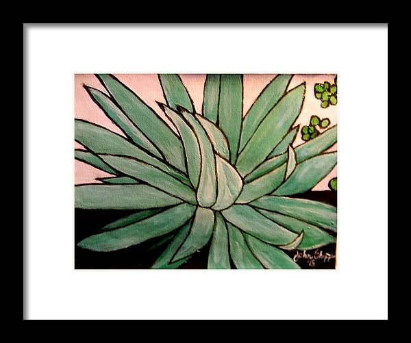 Agave Framed Print featuring the painting Agave by John Shipp