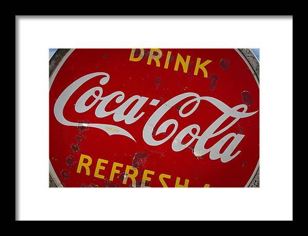 Coke Framed Print featuring the photograph Ahhhhhh by Tony Santo
