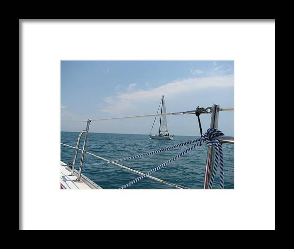 Deck Framed Print featuring the photograph Ahoy by Sue Thomson