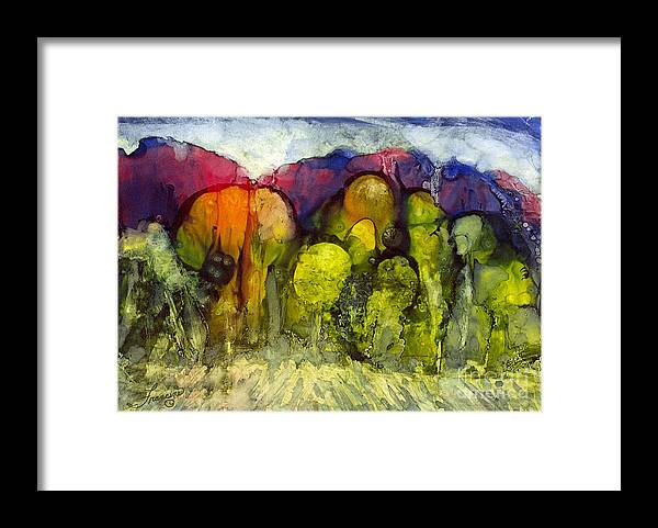 Alcohol Inks Framed Print featuring the painting Ai-2 by Francine Dufour Jones