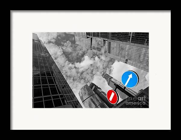 Skyscraper Framed Print featuring the photograph Aim High by Maurizio Bacciarini