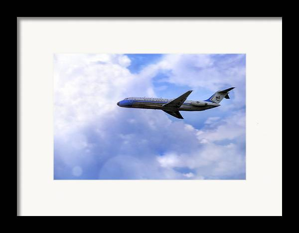 Air Force One Framed Print featuring the photograph Air Force One - Mcdonnell Douglas - Dc-9 by Jason Politte