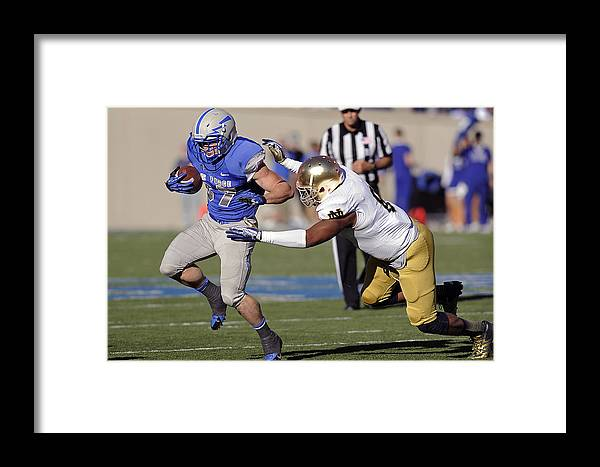 Athletics Framed Print featuring the photograph Air Force Versus Notre Dame by Mountain Dreams
