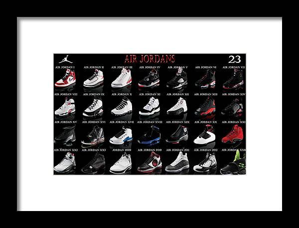 0f36247651a1 Air Jordan Shoe Gallery Framed Print by Brian Reaves