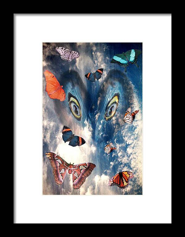 Air Framed Print featuring the digital art Air by Lisa Yount