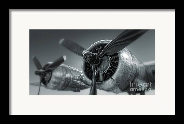Airplanes Framed Print featuring the photograph Airplane Propeller - 02 by Gregory Dyer