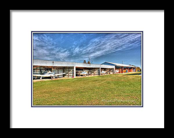 Hdr Framed Print featuring the photograph Airport by Michaela Preston