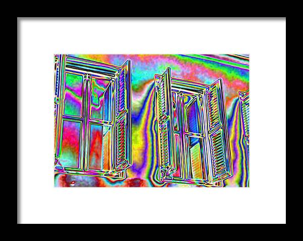 Shutters Framed Print featuring the digital art Airy by John Holfinger