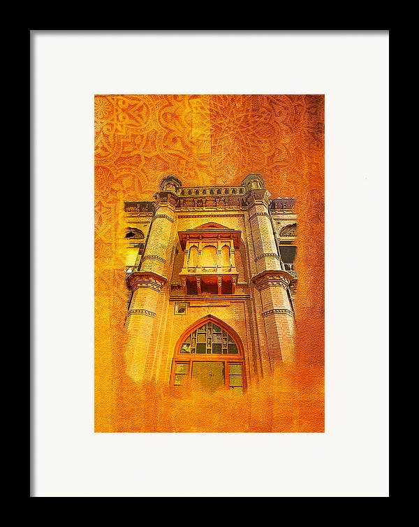 Pakistan Framed Print featuring the painting Aitchison College by Catf