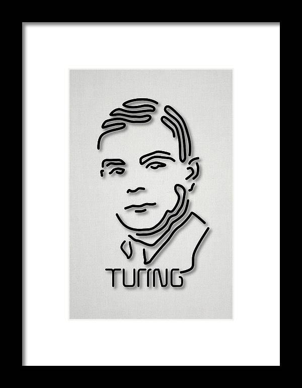 1900s Framed Print featuring the photograph Alan Turing by Ramon Andrade 3dciencia