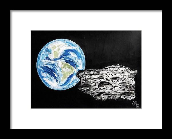 Erde Framed Print featuring the painting Alarming by Ariane Hessenius