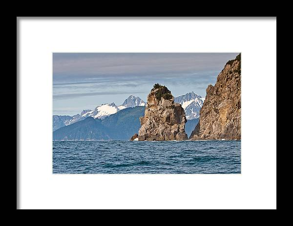 Framed Print featuring the photograph Alaska Coastline Landscape by Richard Jack-James