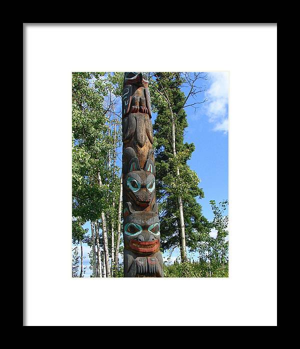 Totem Framed Print featuring the photograph Alaska Totem by Lew Davis