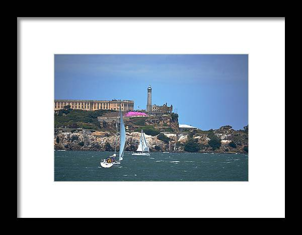 Sailing Framed Print featuring the photograph Alcatraz  by Mike Hinton