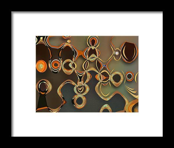 Gold Framed Print featuring the digital art Alchemy by Ginny Schmidt