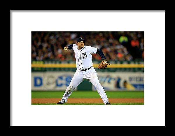 American League Baseball Framed Print featuring the photograph Alcs - Boston Red Sox V Detroit Tigers by Jamie Squire