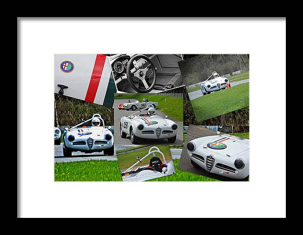 Alfa Romeo Framed Print featuring the photograph Alfa Romeo Milano Collage by Mike Martin