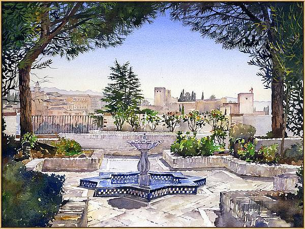 Alhambra from the Mezquita Granada by Margaret Merry