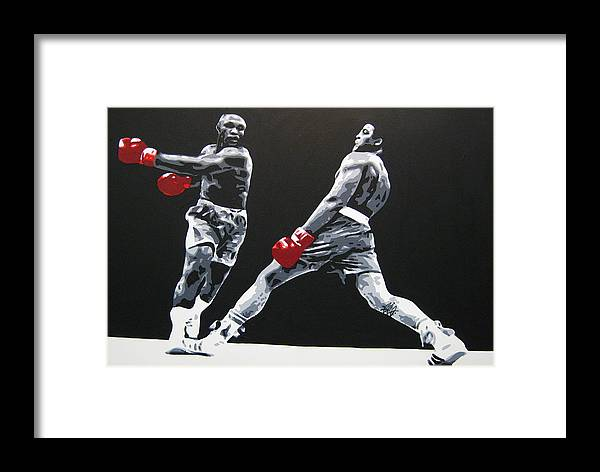 Muhammad Ali Framed Print featuring the painting Ali 1 by Geo Thomson
