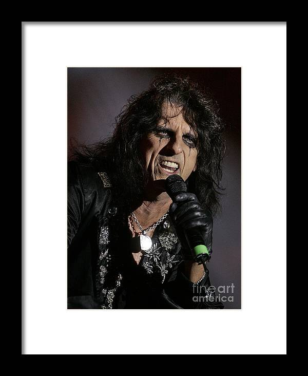 Alice_cooper Framed Print featuring the photograph Alice Closeup by Bruce Crummy