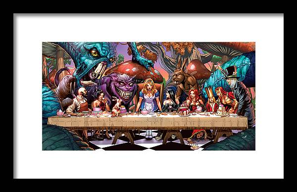 Grimm Fairy Tales Framed Print featuring the drawing Alice In Wonderland 06a by Zenescope Entertainment