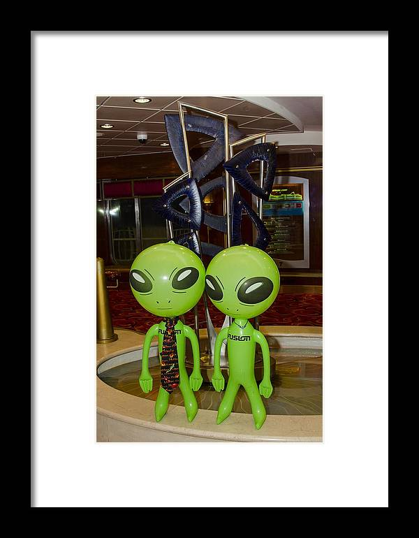 Aliens Framed Print featuring the photograph Aliens And Whatamacallit by Richard Henne