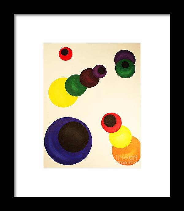 Aligning Strategy Framed Print featuring the painting Aligning Strategy by Christine Dekkers