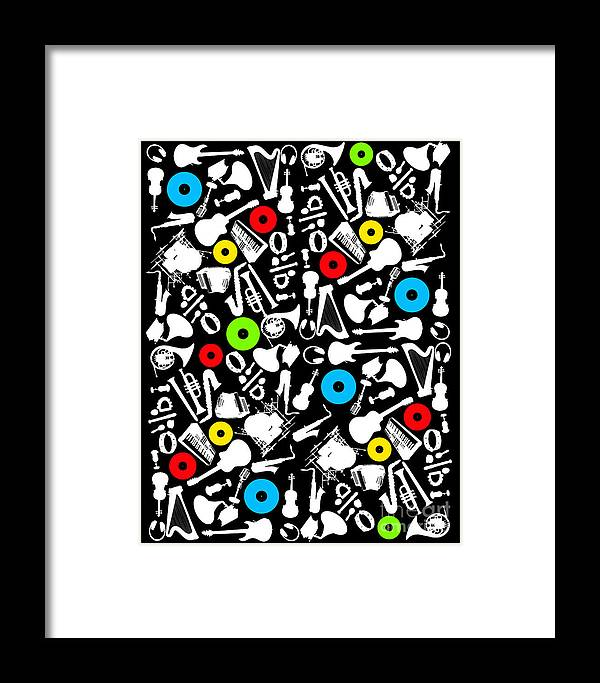 Music Framed Print featuring the digital art All Abut Music by Mark Ashkenazi