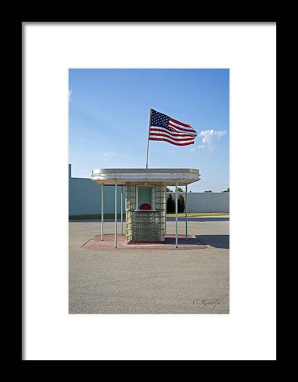 Drive-in Movie Framed Print featuring the photograph All American by Cheri Randolph