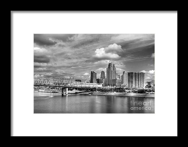 All American City Framed Print featuring the photograph All American City 3 Bw by Mel Steinhauer