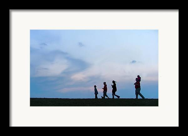 Riverwalk Framed Print featuring the photograph All American Family by Julie Dant