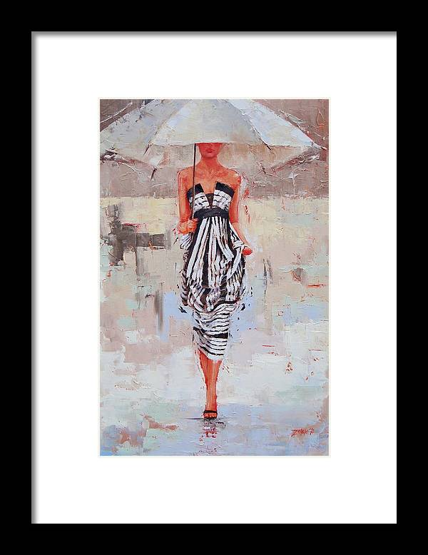 Laura Zanghetti Framed Print featuring the painting All Dressed Up by Laura Lee Zanghetti