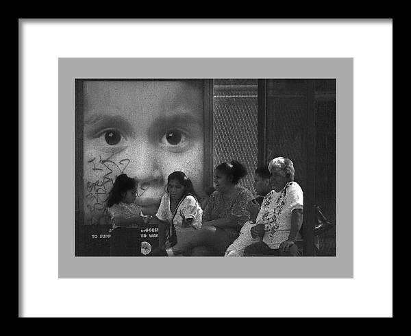 Family Framed Print featuring the photograph All Eyez On Thee by Leon Hollins III