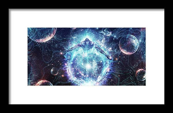 Love Framed Print featuring the digital art All From Nothing We Became Something by Cameron Gray