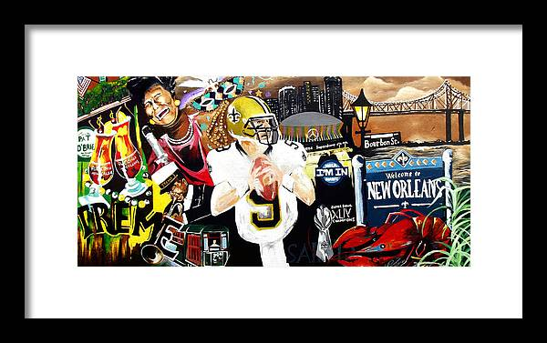 Art Prints Framed Print featuring the painting All Hail New Orleans by Alonzo Butler