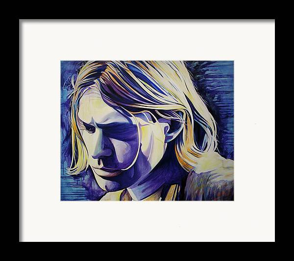 Kurt Cobain Framed Print featuring the painting All In All Is All We Are by Joshua Morton