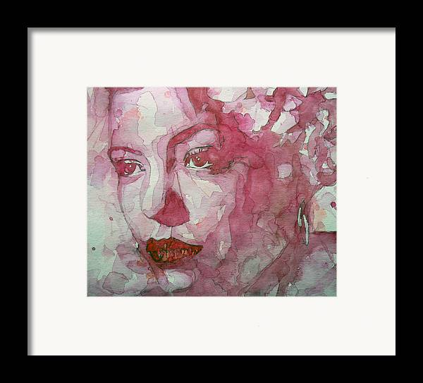 Billie Holiday Framed Print featuring the painting All Of Me by Paul Lovering