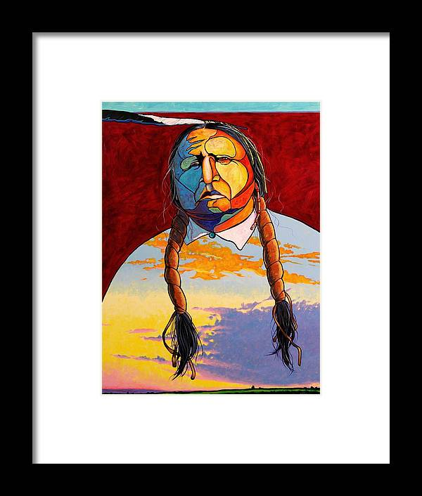 Spiritual Framed Print featuring the painting All That I Am by Joe Triano