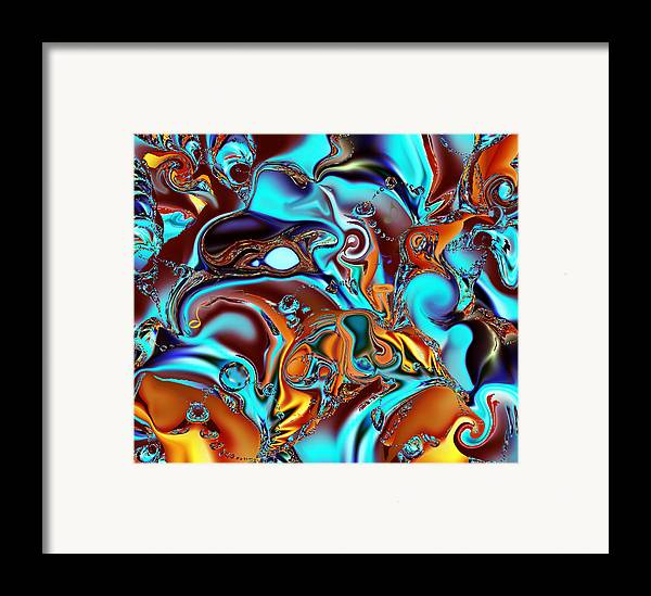 Jazz Framed Print featuring the painting All That Jazz Abstract by Faye Symons