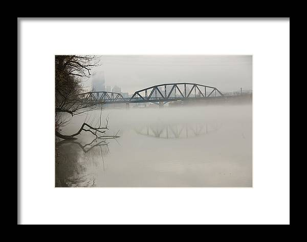 Landscape Framed Print featuring the photograph Allegheny In The Mist by Jay Ressler