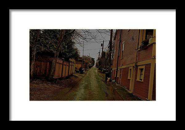 Eastvan Framed Print featuring the digital art Alley 3 by Josie Boyce
